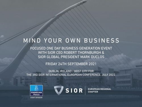 """Modesta Real Estate am """"SIOR Mind your own business"""" Event in Dublin"""